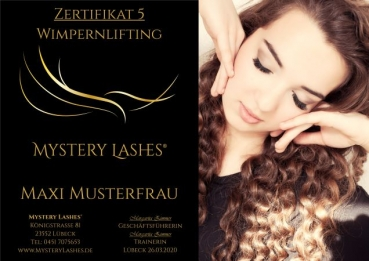 Wimpernlifting Schulung by Mystery Lashes